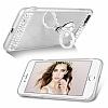 Eiroo Bling Mirror iPhone 7 Plus / 8 Plus Silikon Kenarlı Aynalı Silver Rubber Kılıf - Resim 3