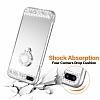 Eiroo Bling Mirror iPhone 7 Plus / 8 Plus Silikon Kenarlı Aynalı Silver Rubber Kılıf - Resim 4