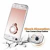 Eiroo Bling Mirror iPhone SE / 5 / 5S Silikon Kenarlı Aynalı Rose Gold Rubber Kılıf - Resim 3