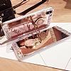 Eiroo Bling Mirror iPhone X Silikon Kenarlı Aynalı Gold Rubber Kılıf - Resim 4
