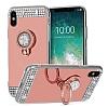 Eiroo Bling Mirror iPhone X Silikon Kenarlı Aynalı Silver Rubber Kılıf - Resim 6