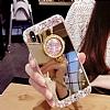Eiroo Bling Mirror iPhone X Silikon Kenarlı Aynalı Gold Rubber Kılıf - Resim 3