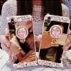 Eiroo Bling Mirror iPhone X Silikon Kenarlı Aynalı Rose Gold Rubber Kılıf - Resim 1