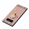 Eiroo Bling Mirror Samsung Galaxy Note 8 Silikon Kenarlı Aynalı Gold Rubber Kılıf - Resim 2