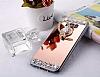 Eiroo Bling Mirror Samsung Galaxy S8 Plus Silikon Kenarlı Aynalı Rose Gold Rubber Kılıf - Resim 4