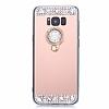 Eiroo Bling Mirror Samsung Galaxy S8 Plus Silikon Kenarlı Aynalı Rose Gold Rubber Kılıf - Resim 3