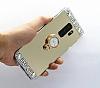Eiroo Bling Mirror Samsung Galaxy S9 Plus Silikon Kenarlı Aynalı Gold Rubber Kılıf - Resim 3