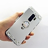 Eiroo Bling Mirror Samsung Galaxy S9 Plus Silikon Kenarlı Aynalı Gold Rubber Kılıf - Resim 1