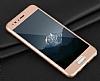 Eiroo Body Fit Huawei P10 360 Derece Koruma Gold Silikon Kılıf - Resim 5