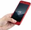 Eiroo Body Fit Huawei P10 360 Derece Koruma Kırmızı Silikon Kılıf - Resim 4