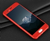 Eiroo Body Fit Huawei P10 360 Derece Koruma Kırmızı Silikon Kılıf - Resim 5