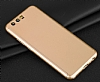 Eiroo Body Fit Huawei P10 360 Derece Koruma Gold Silikon Kılıf - Resim 6