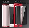 Eiroo Body Fit Huawei P10 Plus 360 Derece Koruma Kırmızı Silikon Kılıf - Resim 5