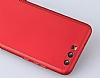 Eiroo Body Fit Huawei P10 Plus 360 Derece Koruma Kırmızı Silikon Kılıf - Resim 2