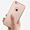 Eiroo Body Fit iPhone 6 / 6S 360 Derece Koruma Rose Gold Silikon Kılıf - Resim 1