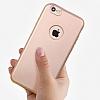 Eiroo Body Fit iPhone 6 Plus / 6S Plus 360 Derece Koruma Rose Gold Silikon Kılıf - Resim 1