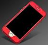 Eiroo Body Fit iPhone 6 Plus / 6S Plus 360 Derece Koruma Rose Gold Silikon Kılıf - Resim 4