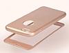 Eiroo Body Fit iPhone 6 Plus / 6S Plus 360 Derece Koruma Rose Gold Silikon Kılıf - Resim 5
