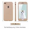 Eiroo Body Fit iPhone 7 360 Derece Koruma Gold Silikon Kılıf - Resim 2