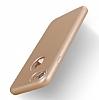 Eiroo Body Fit iPhone 7 360 Derece Koruma Gold Silikon Kılıf - Resim 3