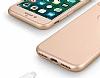 Eiroo Body Fit iPhone 7 360 Derece Koruma Gold Silikon Kılıf - Resim 1