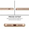 Eiroo Body Fit iPhone 7 360 Derece Koruma Gold Silikon Kılıf - Resim 5