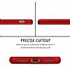 Eiroo Body Fit iPhone 7 360 Derece Koruma Kırmızı Silikon Kılıf - Resim 3