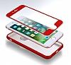 Eiroo Body Fit iPhone 7 360 Derece Koruma Kırmızı Silikon Kılıf - Resim 5