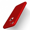 Eiroo Body Fit iPhone 7 360 Derece Koruma Kırmızı Silikon Kılıf - Resim 1
