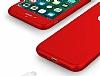 Eiroo Body Fit iPhone 7 360 Derece Koruma Kırmızı Silikon Kılıf - Resim 2