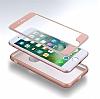 Eiroo Body Fit iPhone 7 360 Derece Koruma Rose Gold Silikon Kılıf - Resim 4