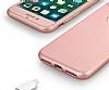 Eiroo Body Fit iPhone 7 360 Derece Koruma Rose Gold Silikon Kılıf - Resim 6
