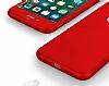 Eiroo Body Fit iPhone 7 Plus 360 Derece Koruma Kırmızı Silikon Kılıf - Resim 3
