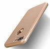 Eiroo Body Fit iPhone 7 Plus 360 Derece Koruma Gold Silikon Kılıf - Resim 4