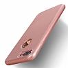 Eiroo Body Fit iPhone 7 Plus 360 Derece Koruma Rose Gold Silikon Kılıf - Resim 1