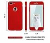 Eiroo Body Fit iPhone 7 Plus 360 Derece Koruma Kırmızı Silikon Kılıf - Resim 2