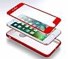 Eiroo Body Fit iPhone 7 Plus 360 Derece Koruma Kırmızı Silikon Kılıf - Resim 6