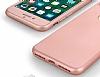 Eiroo Body Fit iPhone 7 Plus 360 Derece Koruma Rose Gold Silikon Kılıf - Resim 2