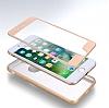Eiroo Body Fit iPhone 7 Plus 360 Derece Koruma Gold Silikon Kılıf - Resim 3
