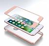 Eiroo Body Fit iPhone 7 Plus 360 Derece Koruma Rose Gold Silikon Kılıf - Resim 3