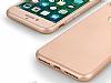 Eiroo Body Fit iPhone 7 Plus 360 Derece Koruma Gold Silikon Kılıf - Resim 1