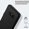 Eiroo Body Fit Samsung Galaxy S8 360 Derece Koruma Siyah Silikon Kılıf - Resim 3