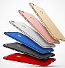 Eiroo Body Thin Huawei P9 Lite 2017 360 Derece Koruma Kırmızı Rubber Kılıf - Resim 3