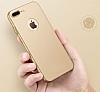 Eiroo Body Thin iPhone 7 / 8 360 Derece Koruma Gold Rubber Kılıf - Resim 3