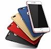 Eiroo Body Thin iPhone 7 Plus 360 Derece Koruma Kırmızı Rubber Kılıf - Resim 3