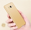 Eiroo Body Thin Samsung Galaxy J3 2016 360 Derece Koruma Gold Rubber Kılıf - Resim 3