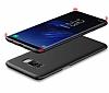 Eiroo Body Thin Samsung Galaxy S8 360 Derece Koruma Kırmızı Rubber Kılıf - Resim 3