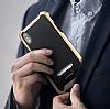 Eiroo Bumblebe iPhone X / XS Ultra Koruma Lacivert Kılıf - Resim 1
