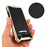 Eiroo Bumblebe iPhone X / XS Ultra Koruma Lacivert Kılıf - Resim 2