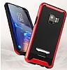 Eiroo Bumblebe Samsung Galaxy S9 Plus Ultra Koruma Kırmızı Kılıf - Resim 1